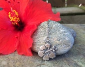 Sterling Silver Hibiscus Flower