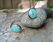 Double Turquoise Open Sterling Silver Cuff