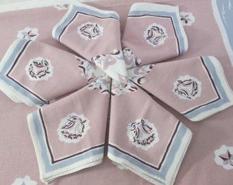 Vintage Tablecloth and Napkins 1930's Vintage Table Cloth Unused Mint