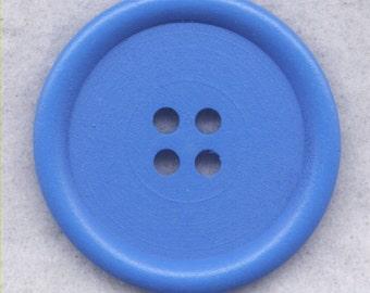 Blue Wood Buttons Wooden Buttons 40mm (1 5/8 inch) Set of 2 /BT527C