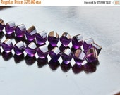 Clearance SALE Purple Amethyst Gemstone Faceted Lantern Twist Briolette 8.5 to 10mm 15 beads