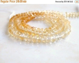 Clearance SALE Citrine Gemstone Rondelle Shaded Faceted 4mm 65 beads 1/2 Strand