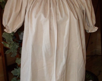 Pirate Wench Gypsy Renaissance Blouse Chemise Short Sleeve Tea Stained