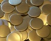 NuGold Discs - 20 Gauge, stamping blanks, metal blanks, stamping discs, Bopper, etching blanks, embossing blanks, stamping supplies