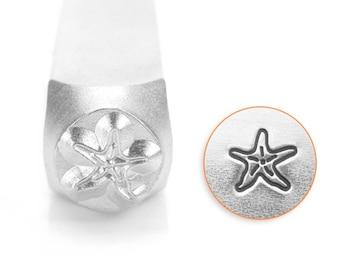 Starfish Design Stamp, Metal Stamp, Carbon Steel Stamp, ImpressArt Stamp, SC1519-P-6MM, Ocean Stamp, Sea Star, Marine Stamps, Bopper