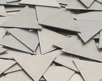 Nickel Silver Triangles, metal stamping blanks, Bopper, geometric stamping blanks