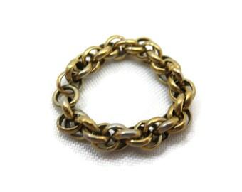 Chain Ring - Vintage, Brass