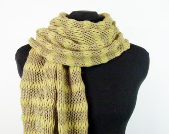 Knit Shawl or Scarf in Alpaca, Wool, Silk and Cashmere - Item 1444