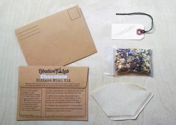Chocolate DIY Cocktail Bitters Mini Booster Kits
