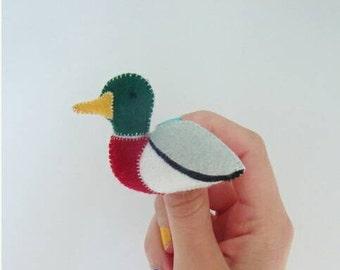 mallard duck brooch