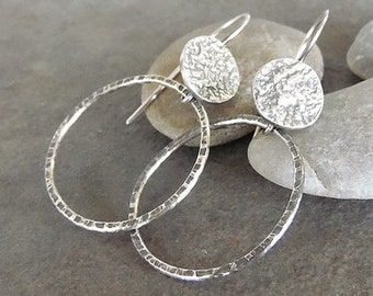 Rustic Sterling SilverArtisan-Hoop-Earrings-Sale.