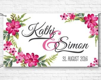 Wedding gift 160x90cm banner