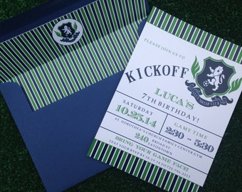 Soccer Party Invitation Set of 10