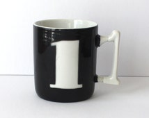 Number 1 Mug with #1 Handle Olive Green and Totally Vintage