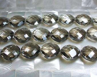 8pc 22mm Grey/Gray Black Diamond color Chinese Crystal glass Beads Soft Diamond shape Jewelry Jewellery Craft Supplies