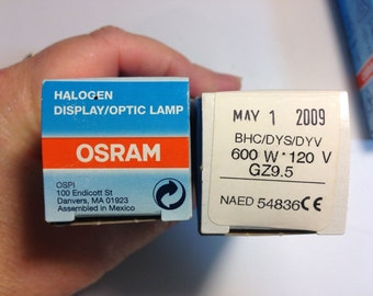 2 BHC/DYS/DYV GZ9.5 projection bulb, Osram, 600W 120V Halogen Photo Optic Lamp
