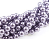 6mm MAUVE Swarovski Pearls - Swarovski Beads Article 5810 Crystal Pearls - Light Purple Pink - Light Orchid - Frosty Plum Pearl Beads
