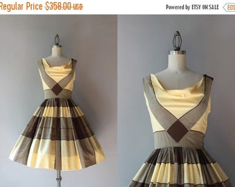 STOREWIDE SALE 1950s Claire McCardell Dress / Vintage 50s Marigold Sundress / Claire McCardell Cotton Cowl Neck Dress