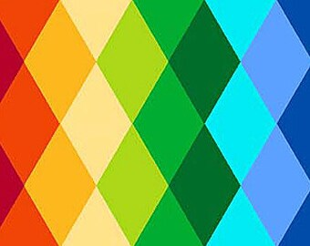 Diamonds Rainbow Colorworks Concepts Northcott Fabric 35 inches LAST IN STOCK