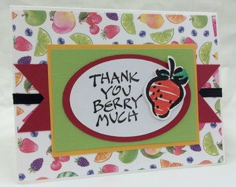 Thank You Berry Much handmade card