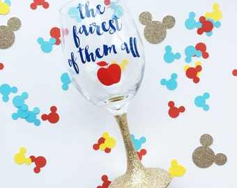 The Fairest of Them All /// Snow White /// Wine Glass