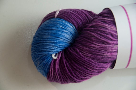 Hand-Dyed Yarn in A Storm's Coming Colourway Sock Yarn Superwash Wool/Nylon Tootsie Base