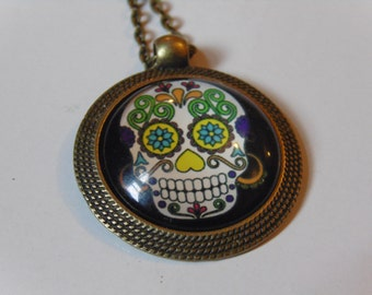 Day of the Dead Sugar Skull Necklace 4