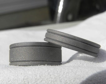 Matching Ring Set or Wedding Bands Sandblasted Rings