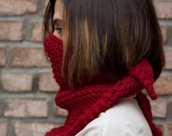 Garter Handkerchief Scarf - Hand Knit
