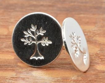 Tree Studs in Sterling Silver