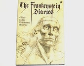 1980s Frankenstein book / 80s horror book / Frankenstein Diaries Book