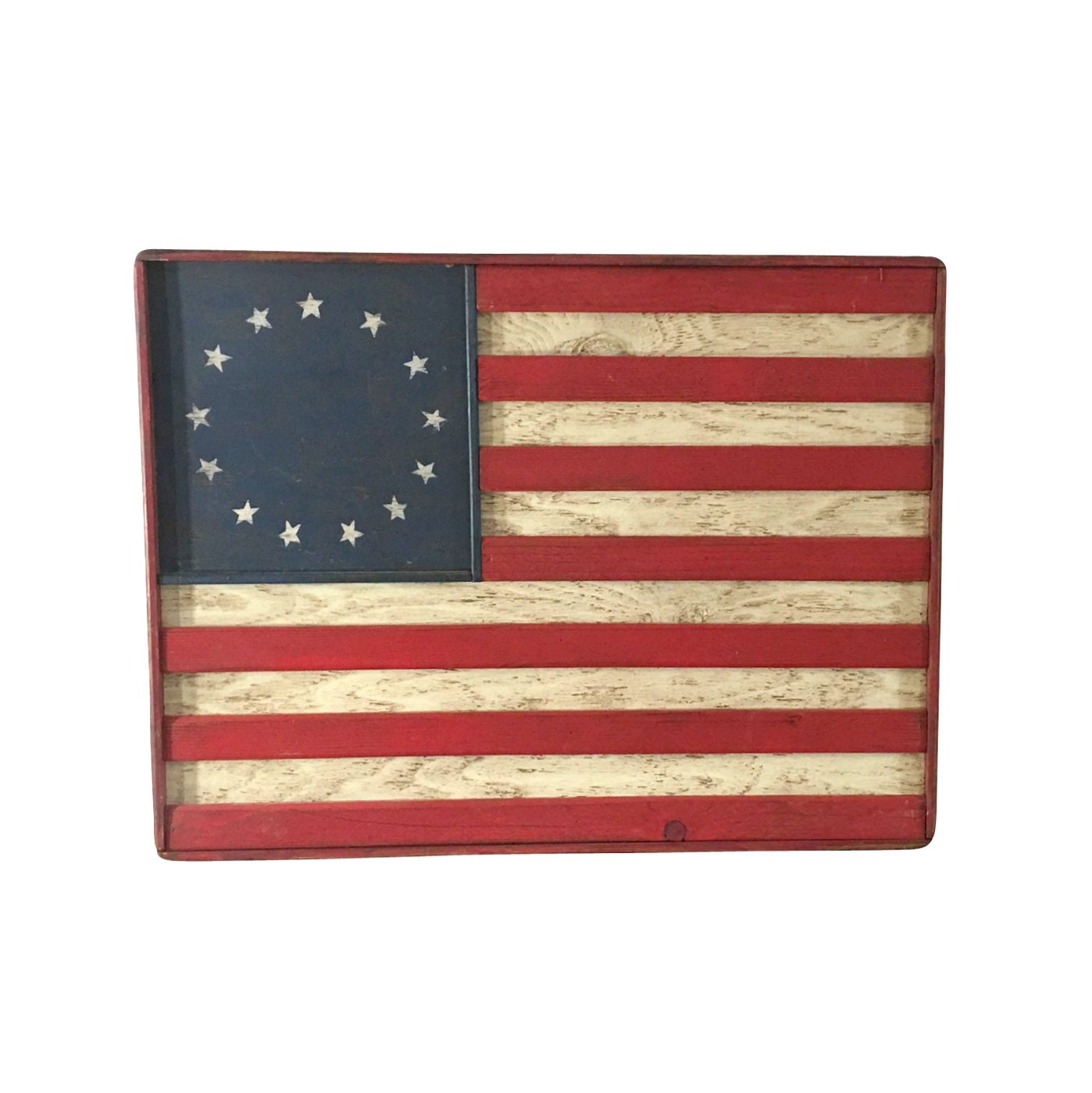 vintage wood american flag wall hanging serving by. Black Bedroom Furniture Sets. Home Design Ideas