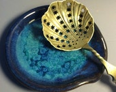 Royal Blue and Turquoise Spoon rest