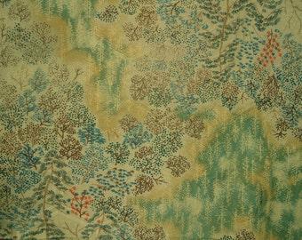 Kimono Silk Landscape Trees