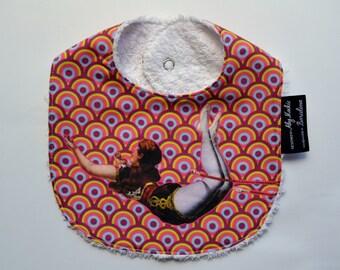 Unique Baby BIB handmade and designed in BARCELONA. Retro Circus TRAPEZE Artist.