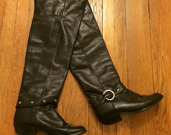 VTG 80s/90s Tall Leather Boots