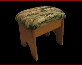 Foot Stool, Farm Scene