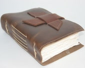 Simple, sleek leather journal / daily writer / leather bound journal / by Binding Bee
