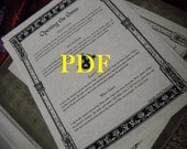 Quarter Calls PDF -- Book of Shadows -- BOS page
