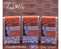 Tic Tac GHOST Poop - Printable - Party Package - Halloween - Craft Fair - Favors - Quote - Party Favors - Fall - Candy - Tic Tacs - Label