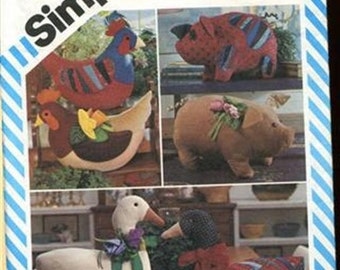 Simplicity 6148 Barnyard Stuffed Animals (Home Decor)