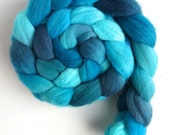 Targhee Wool Roving - Hand Painted Spinning or Felting Fiber, Cold Elaboration
