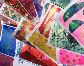 Painted For You ORIGINALS! Fabulous Gelli Printed Paper Packs to Cut Up or Art Journal On!