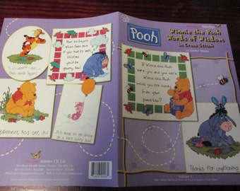 Counted Cross Stitch Patterns Winnie the Pooh Words of Wisdom Designer Stitches Disney Counted Cross Stitch Leaflet