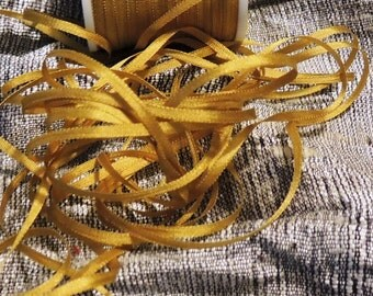 2mm gold silk ribbon #660 5 yards