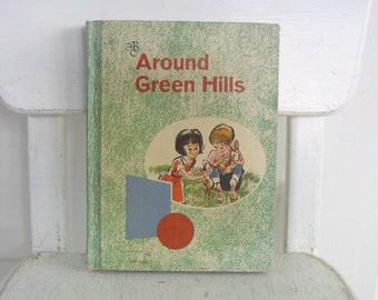 Vintage Child Book Reader Around Green Hills School Sixties