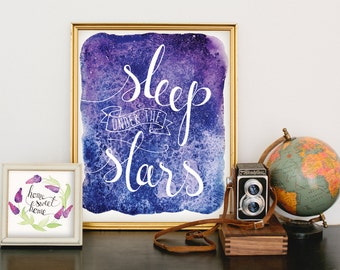 Sleep Under the Stars art print digital download