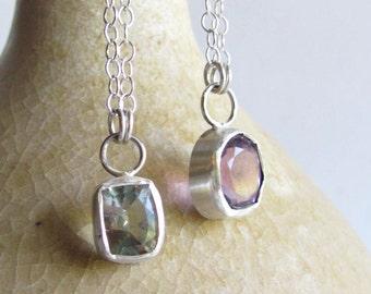 Amethyst Necklace - Green Amethyst Necklace - Prasiolite Necklace - Amethyst Jewelry