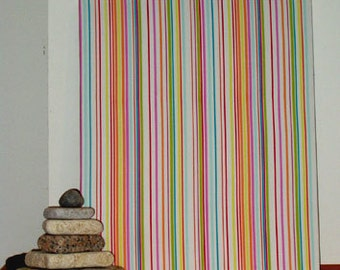 "Sale! Fabric Wall Hanging of Striped Modern Designer Fabric 24"" x 19.5"" x 1 1/2"" deep"