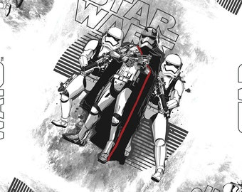 Star Wars The Force Awakens Storm troopers Fabric By The Yard
